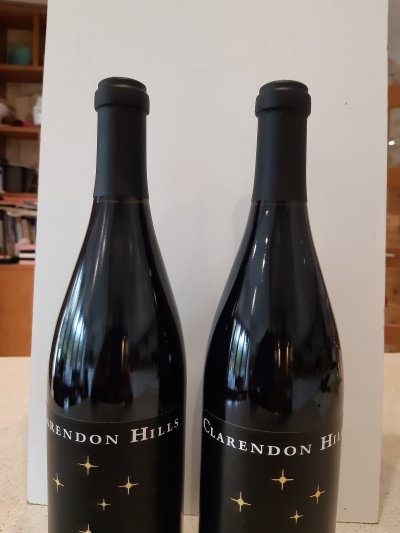 2 x Bottles of Clarendon Hills, Astralis Shiraz. 2003 & 2005 both 99/100RP