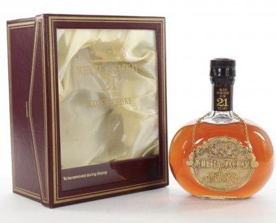 Collection 4 rare bottles of Whisky : Whyte & Mackay 21yo, Benriach 21yo, Buchanan's Red Seal 80's, Ardberg Traigh Bahn 19yo
