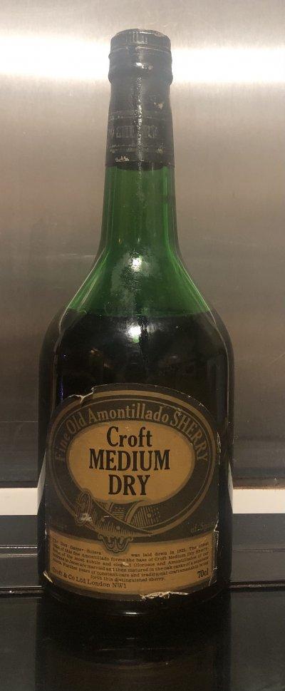 Croft, Amontillado  Sherry 1970s