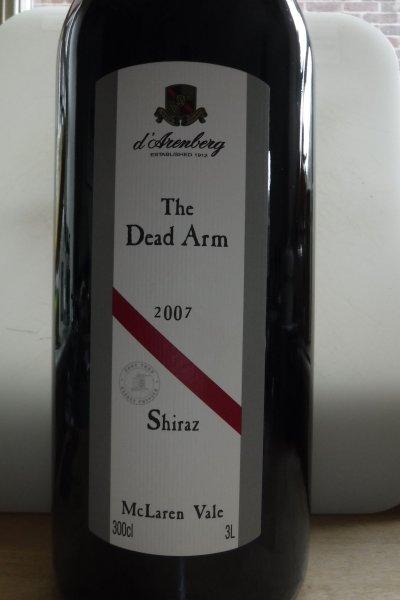 d'Arenberg, The Dead Arm Shiraz, McLaren Vale