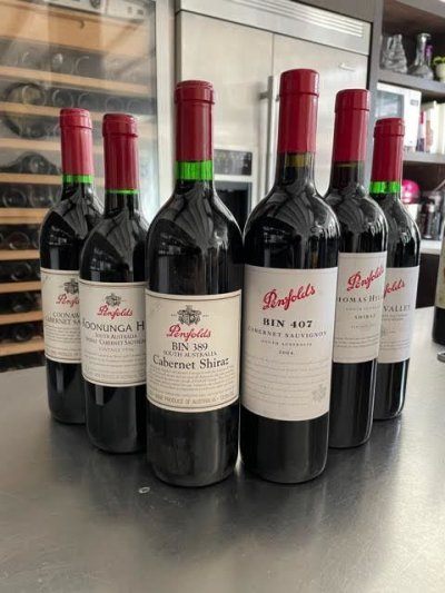 rare penfolds collection x 6
