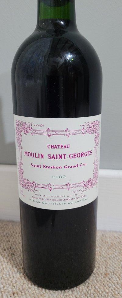 Chateau Moulin Saint-Georges, Saint-Emilion Grand Cru 2000