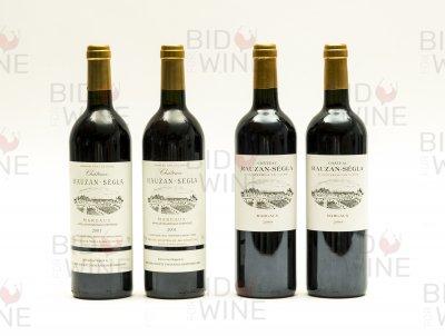 Vertical of Chateau Rauzan Segla, Margaux, 2e Cru Classe: 2001 (2 bottles), 2004 (2 bottles)