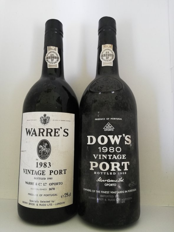 Port from the 1980s; Dow and Warre's