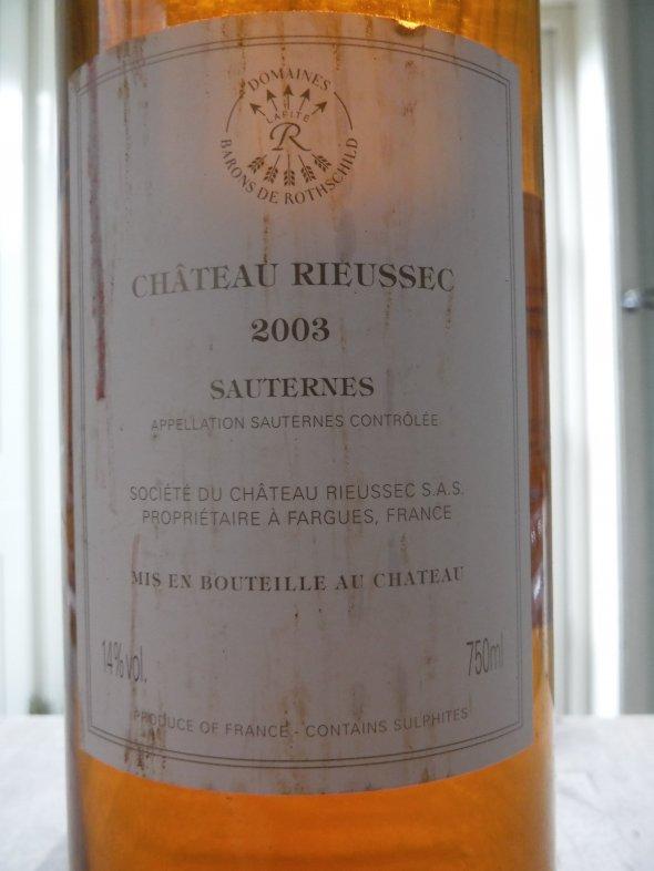 Rieussec, Bordeaux, Sauternes, France, AOC, 1er Cru Classe