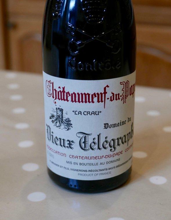 Vieux Telegraphe, Chateauneuf Du Pape, Rhone, Chateauneuf du Pape, France, AOC-RP 92 points