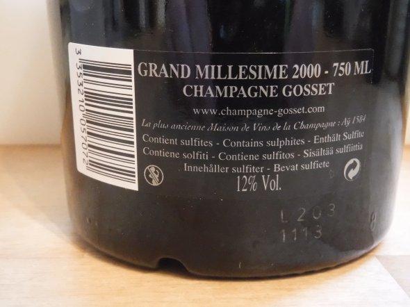 Gosset, Grand Millesime, Champagne, France, AOC