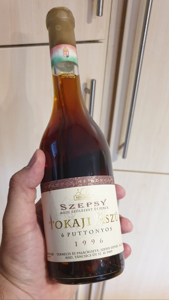 Szepsy, Aszu Tokaji 6 Puttonyos, Tokaji, Hungary, PDO