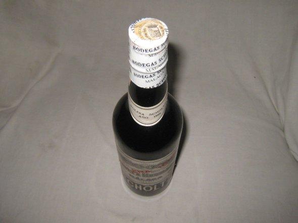 Scholtz Hermanos, Malaga Solera 1885.  Espana.  Rare Bottle.