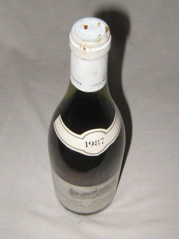 1987 Montee De Tonnerre, Chablis Premier Cru.  Louis Michel & Fils.