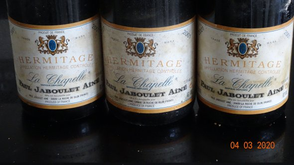 Paul Jaboulet Aine, Hermitage Chapelle, Rhone, Hermitage, France, AOC 2001 WS 97