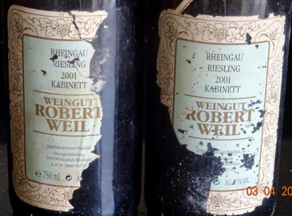2 Bt. Robert Weil Riesling Kabinett  (RP92)