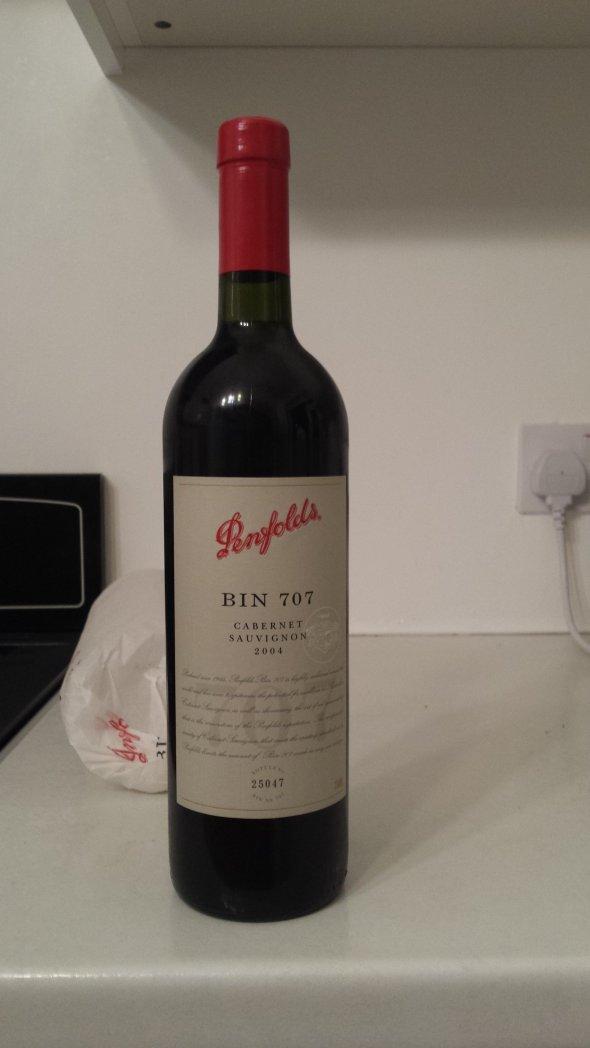 2004 Penfolds, Bin 707 (RP 95 - w/s £390)