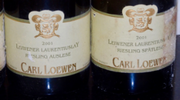 Weingut Carl Loewen Leiwener Laurentiuslay Riesling 2 Bt Auslese(ST 92) and 1 Bt Spatlese(ST 92)