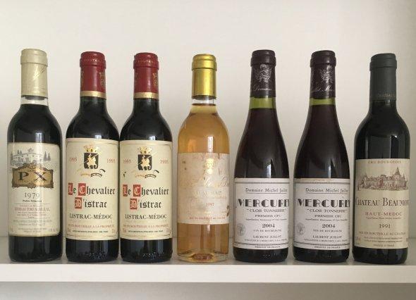 Various vintages, mixed half bottles