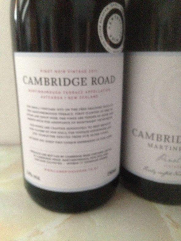Cambridge Road, Martinborough Pinot Noir Martinborough, New Zealand