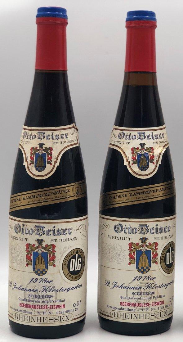 Saint Johanner Klostergarten 1978 Scheurebe Beerenauslese Eiswein