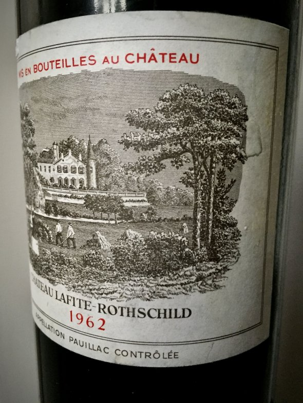 1962 Lafite Rothschild, Pauillac,1er Cru