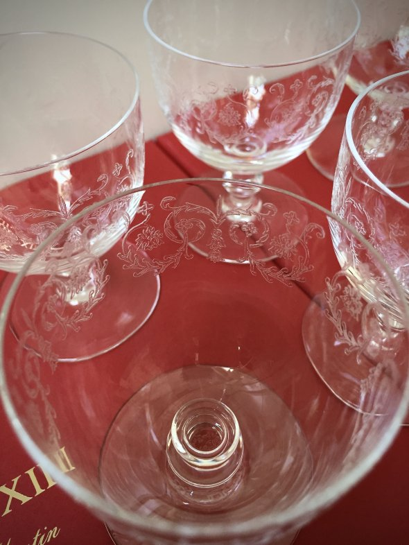 6 Baccarat Port glasses - Handmade in France