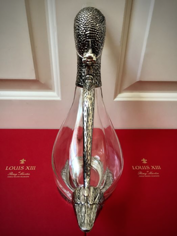 Crystal/Silverplate decanter