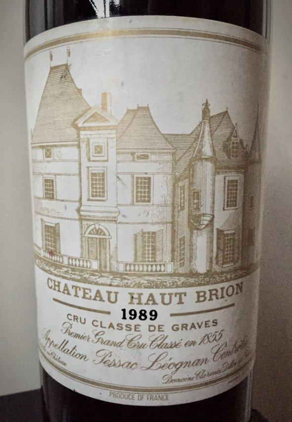 1989 Ch. Haut Brion, Pessac Leognan, 1er Cru
