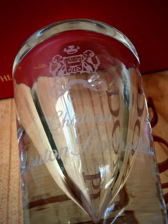 Ch. Mouton Rothschild - rare crystal glass Barrel Stopper/Paperweight, NV