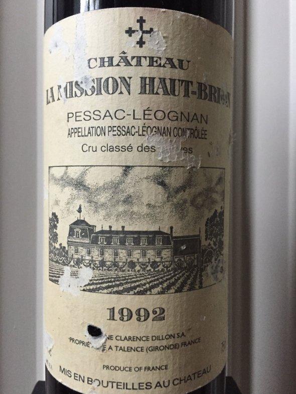 1992 Ch. Mission Haut Brion, Pessac Leognan, Cru Classe