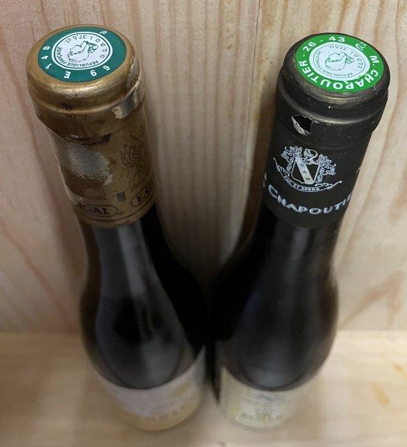 Lot 1 bottles Ermitage Vin de Paille Chapoutier 1996 & 1 bottle Condrieu Luminescence Guigal 2003
