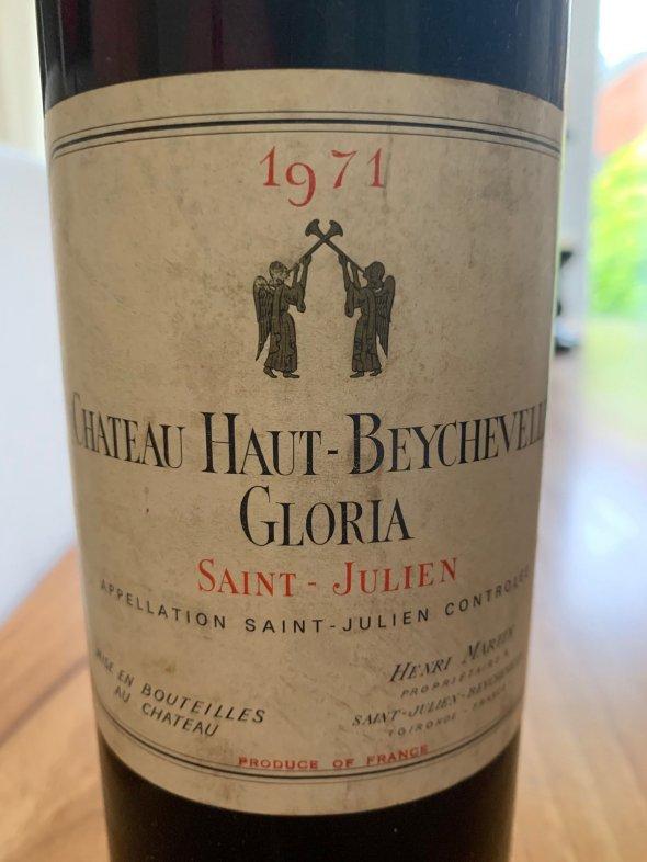 CHATEAU HAUT-BEYCHEVELLE GLORIA - 1971