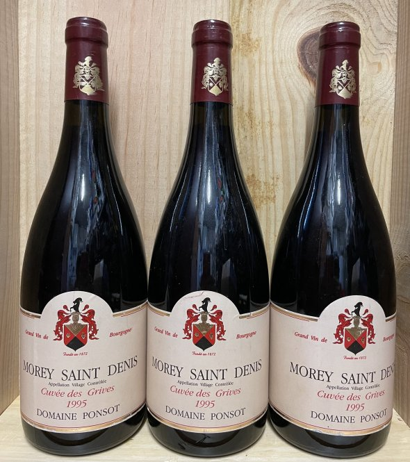 LOT 3 BTS Ponsot, Morey Saint Denis Grives, Burgundy, Morey Saint Denis, France, AOC