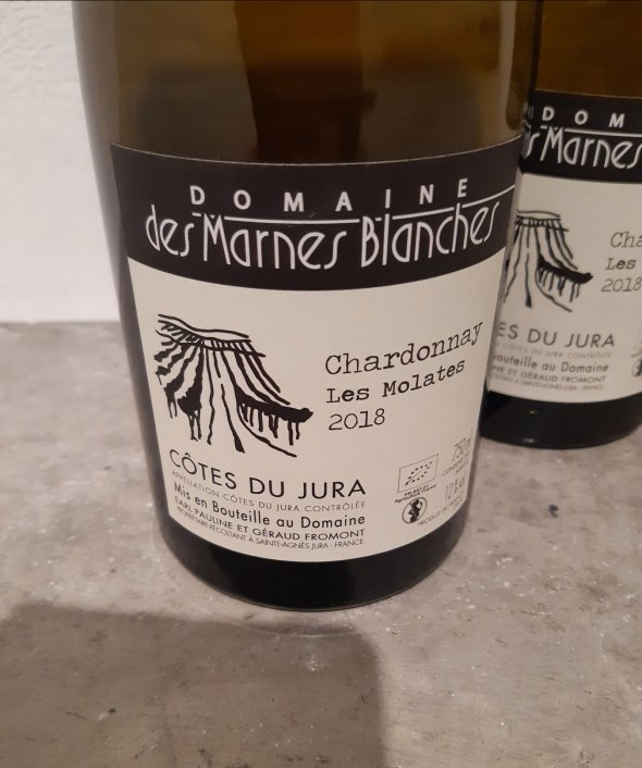 Domaine des marnes blanches, Chardonnay les molates 2018