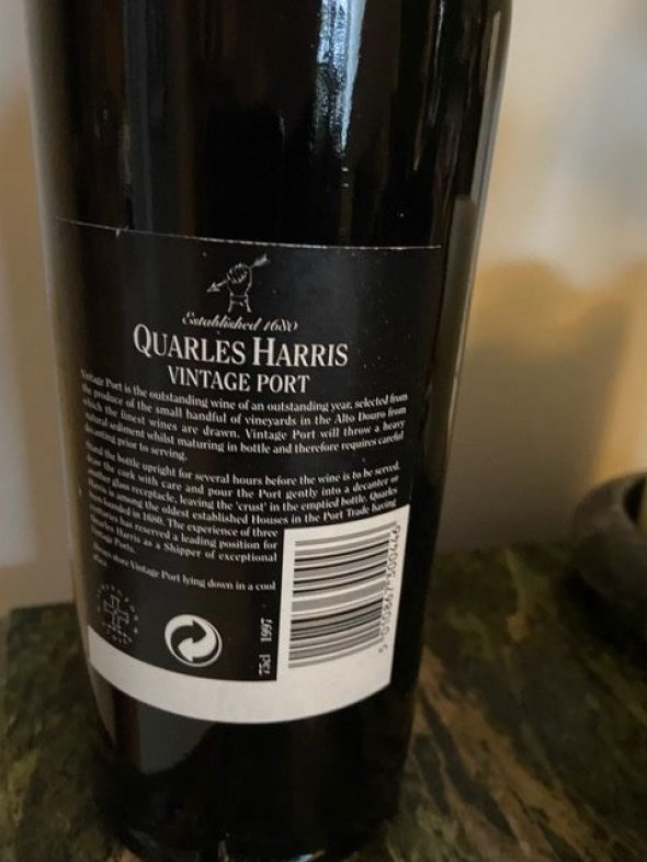 Quarles Harris, 1997 Porto Vintage, Douro, Port, Portugal, Vintage