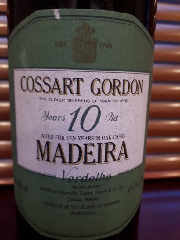 Cossart Gordon, Madeira Verdelho 10YO, Madeira, Portugal