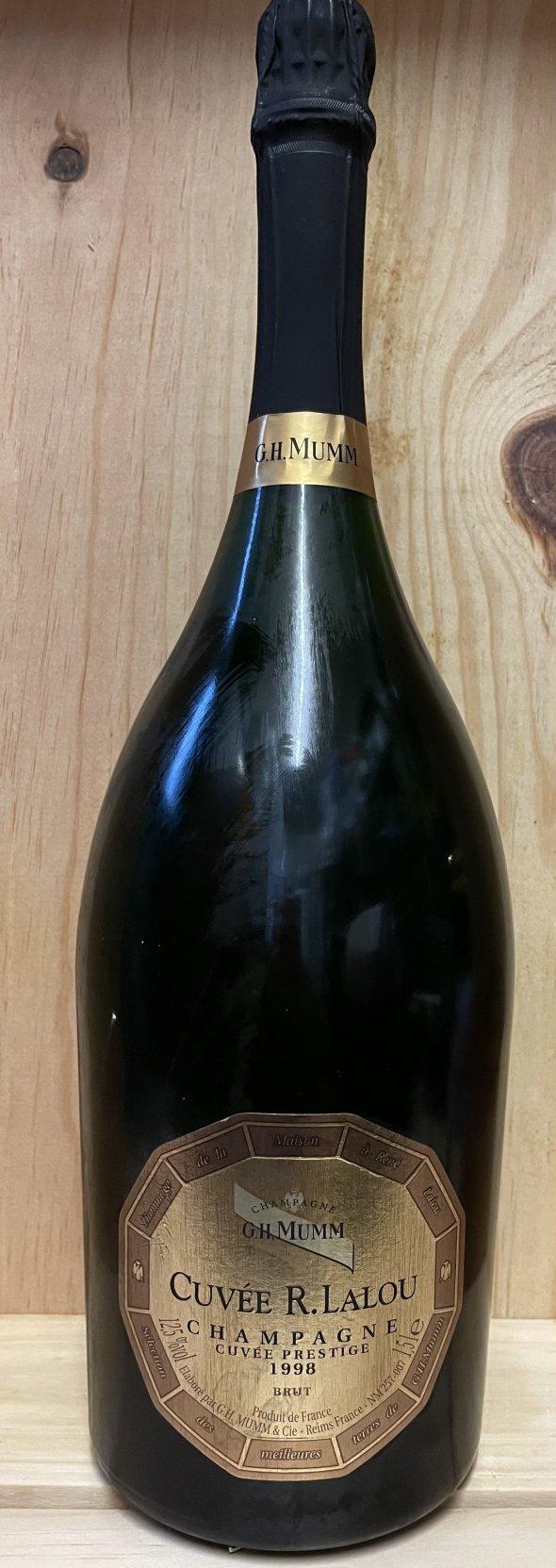 1 MAGNUM Cristal Roederer 2007 & 1 MAGNUM Mumm Rene Lalou 1998