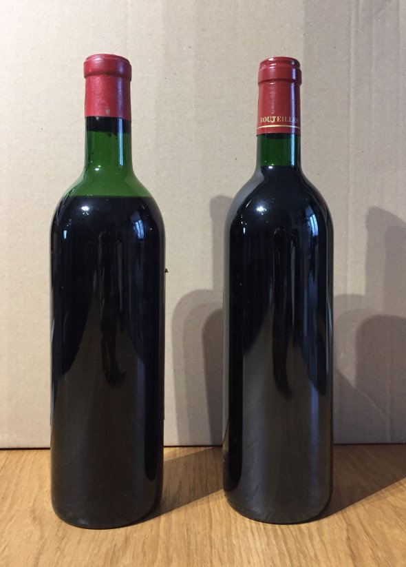 Job Lot: 2 x Saint Estephe, Chateau Haut Marbuzet 1970 & Chateau Lilian Ladouys 1995