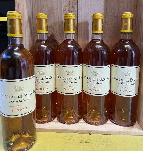 5 bt Chateau De Fargues Lur Saluces - Sauternes 2006