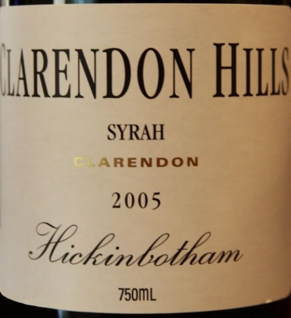 Clarendon Hills, Hickinbotham Syrah, South Australia