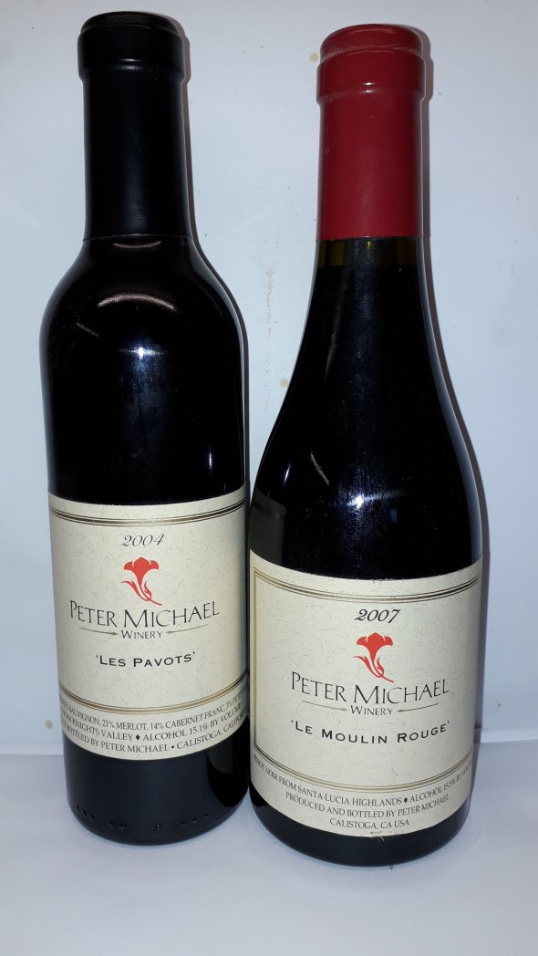 USA Peter Michael Winery halves bottles