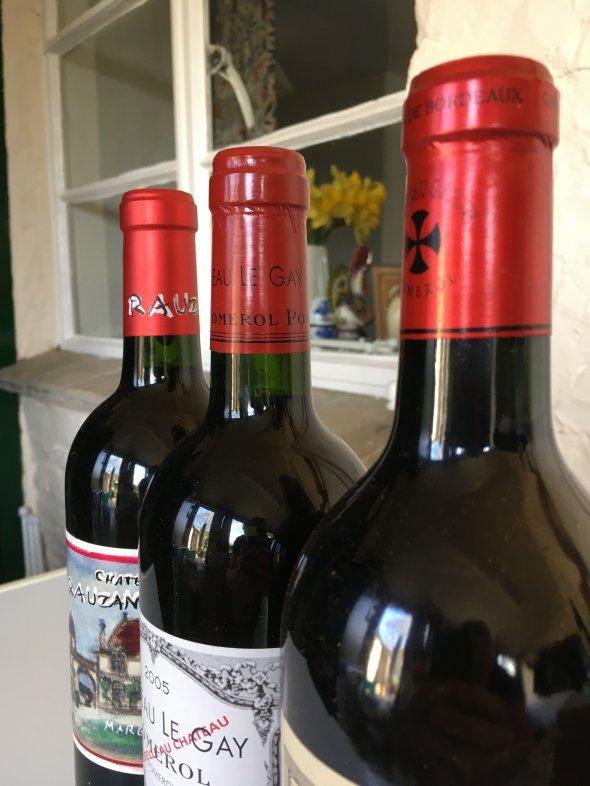 3 bottle's from top Bordeaux vintage