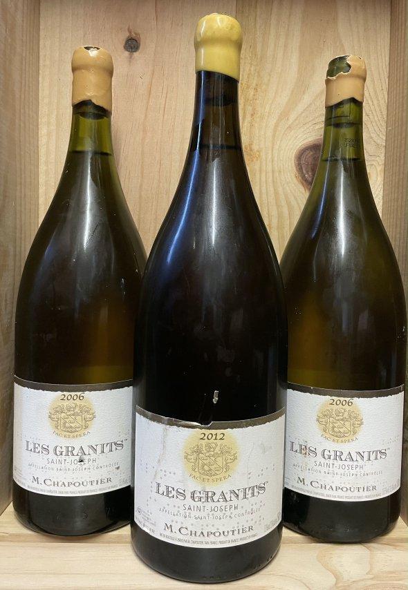 3 x MAGNUMS St Joseph Les Granits M.Chapoutier ( 2 x 2006 and 1 x 2012)