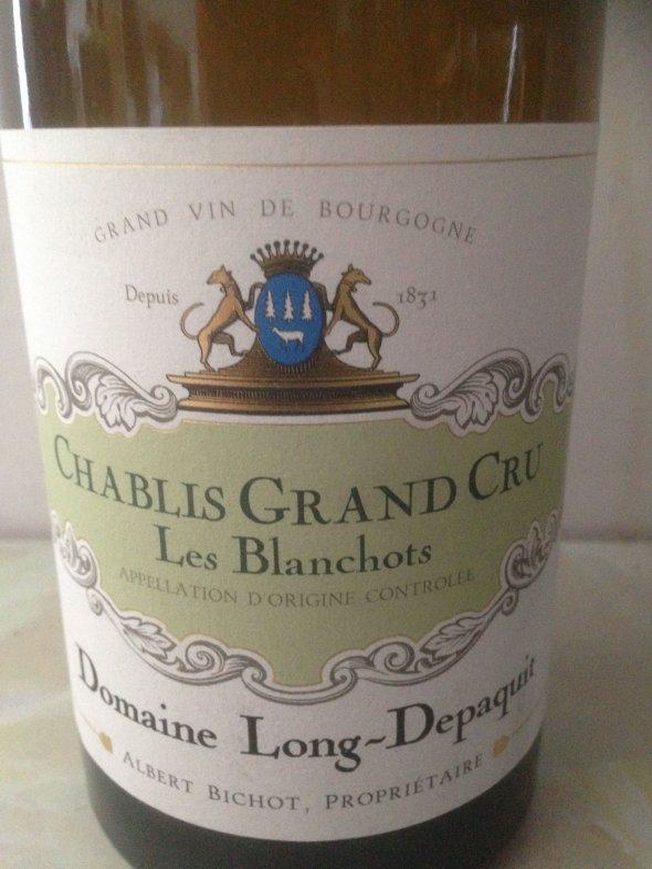 Chablis Grand Cru  Blanchots  Domaine Long-Depaquit 2017