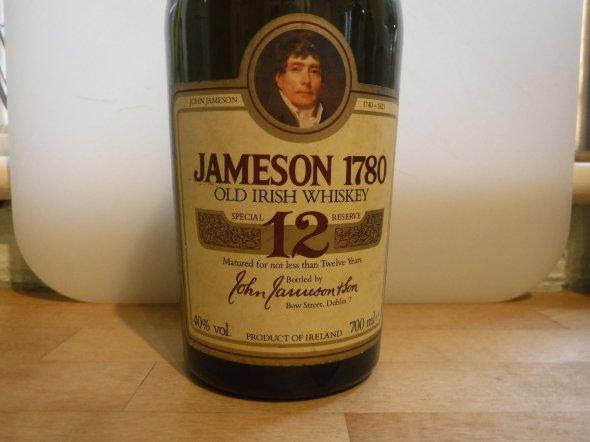 Jameson 1780 12 Year Old, Triple Distilled, Old Irish Whiskey