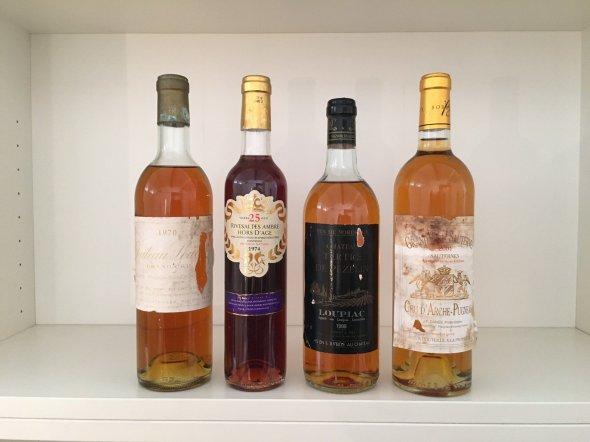 Dessert Wines Mixed Lot 1970-2001