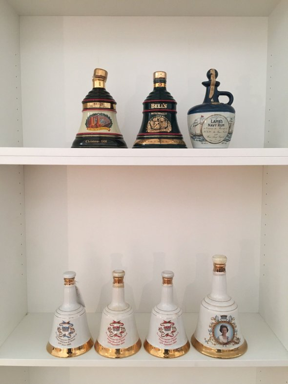 Vintage Commemorative Bell's Scotch Whiskey and Lamb Navy Rum 1982-1994