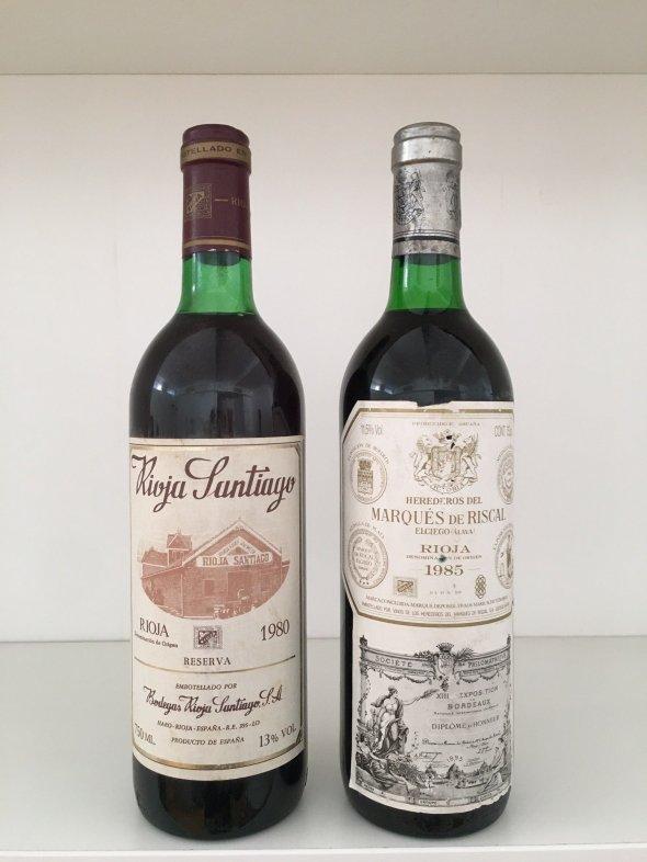 Mixed Rioja Lot: 1985 Marques de Riscal Reserva & 1980 Bodegas Rioja Santiago Reserva