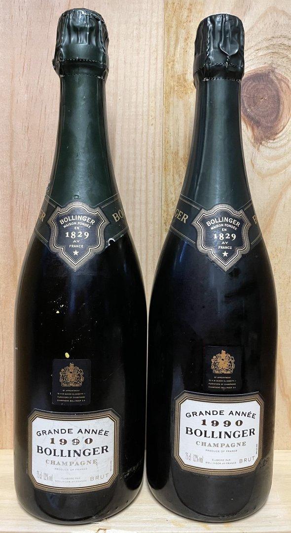 lot 2 x Dom Perignon 2000 & 2 x Bollinger Grande Annee 1990