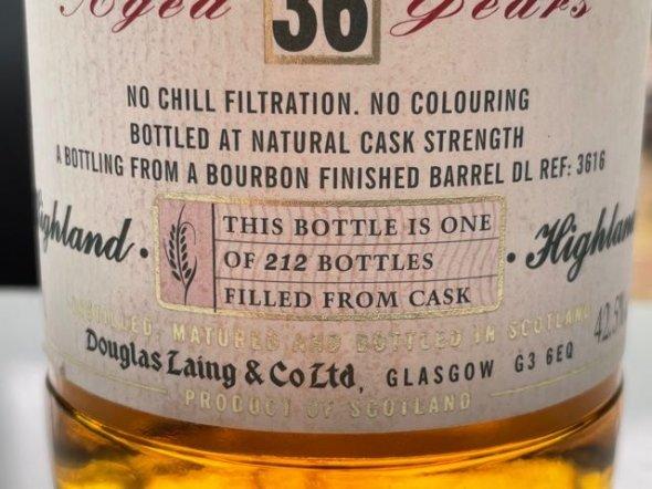 Ben Nevis Distillery Highland Single Malt 1971 - Aged 36 years.