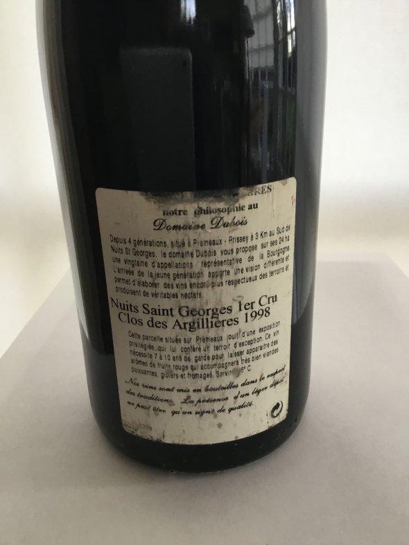 R. Dubois & Fils, Nuits-Saint-Georges Premier Cru, Les Argillieres