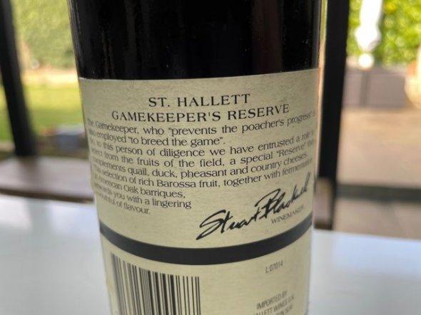 St Hallett, Gamekeepers Reserve, Barossa Valley