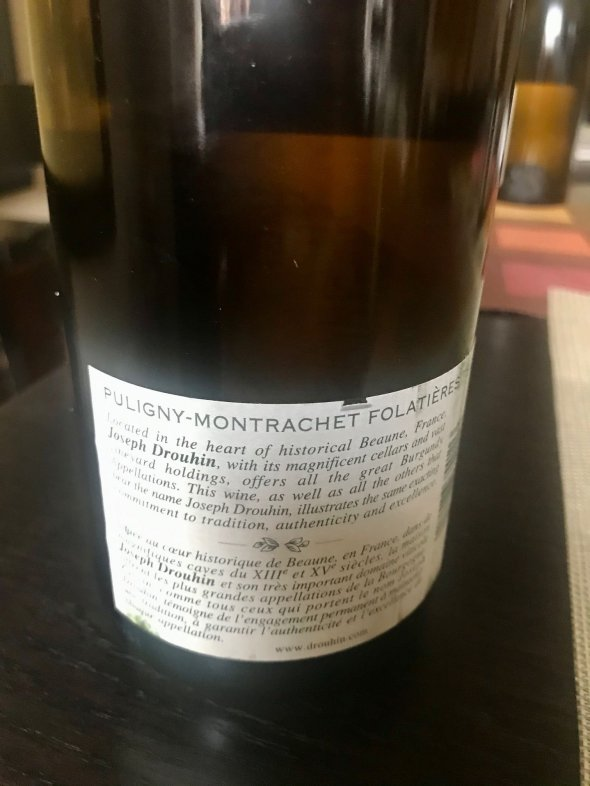 Joseph Drouhin, Puligny-Montrachet Premier Cru, Les Folatieres